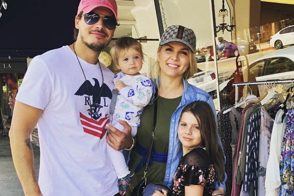 Elena Samodanova with her family