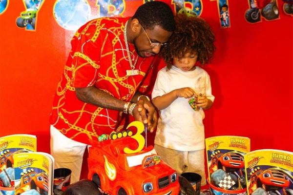Rapper Fabolous and his son Jonas Jackson