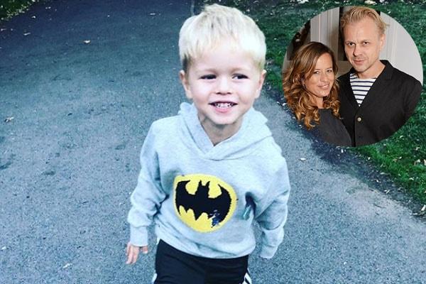 Jade Jagger and husband Adrian Fillary with son Ray Emmanuel Fillary
