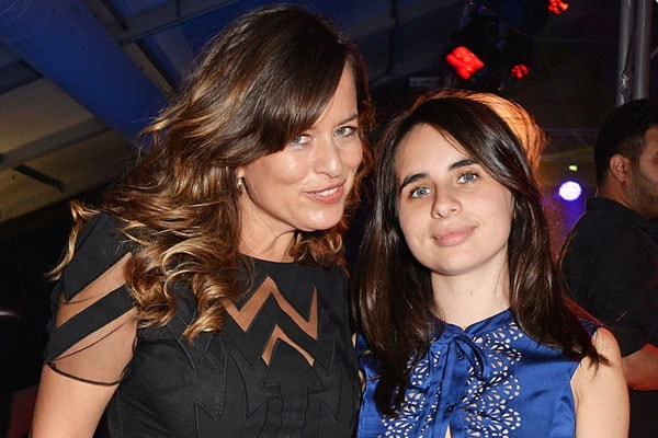 Jade Jagger and her daughter Assisi Lola Jackson