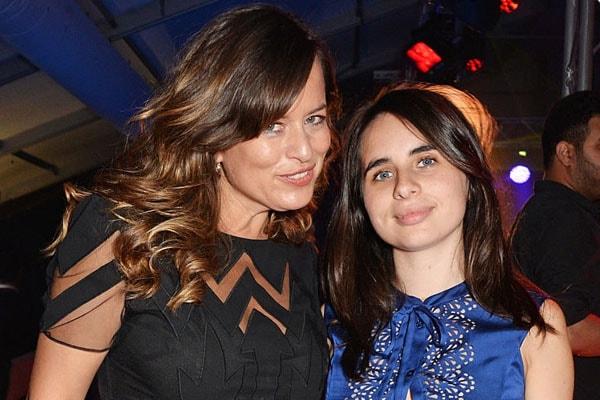 Jade Jagger and her daughter Assisi Lola Jackson