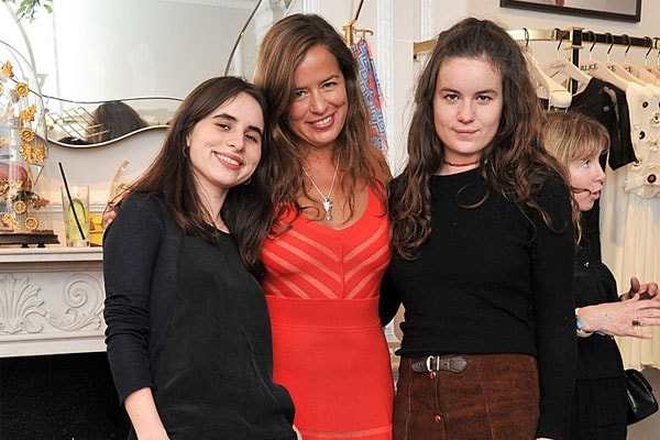 Jade Jagger and her daughters Amba Isis Jackson and Assisi Lola Jackson