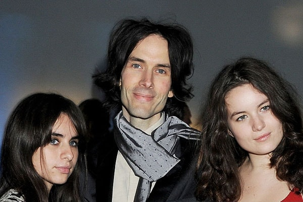 Jade Jagger's daughter Amba Isis Jackson with her father and sister