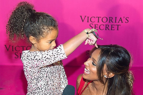 Jasmine Tookes and her daughter
