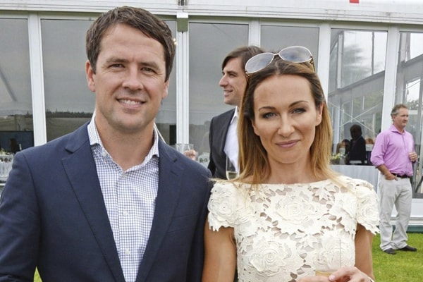 Louise Bonsall with her husband, Michael Owen