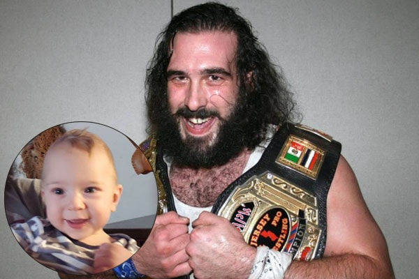 Luke Harper with his son Nolan Harper