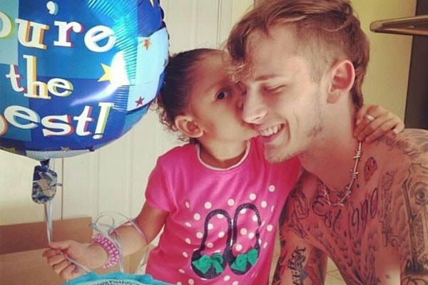 MGK and his daughter Casie Colson Baker