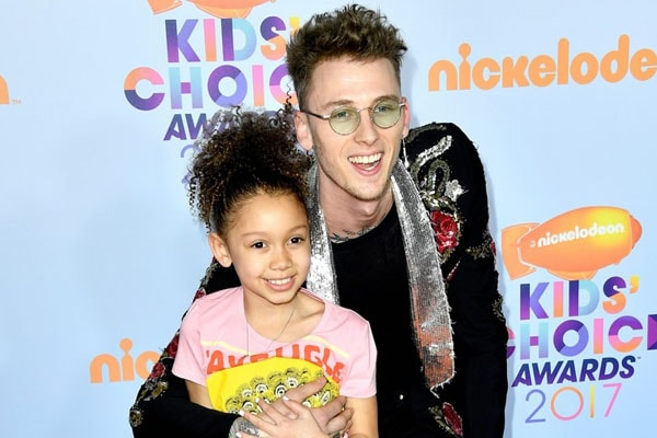 Machine Gun Kelly with daughter Casie Colson Baker