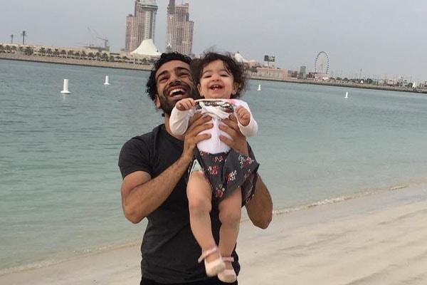 Mohamed Salah with daughter, Makka Salah.