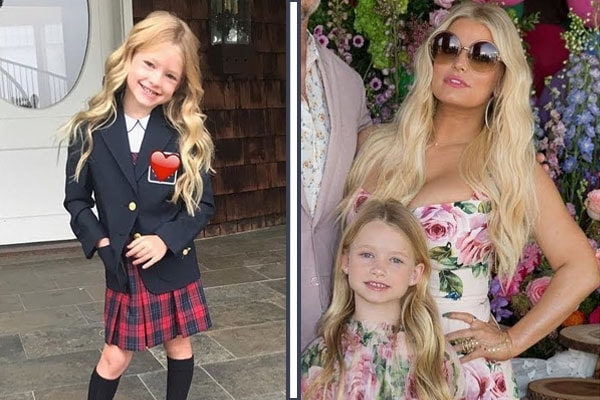 Jessica Simpson and her daughter Maxwell Drew Johnson