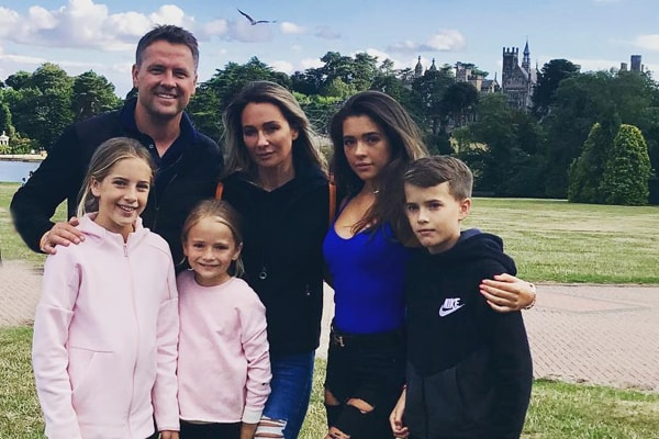 Michael Owen and his four kids