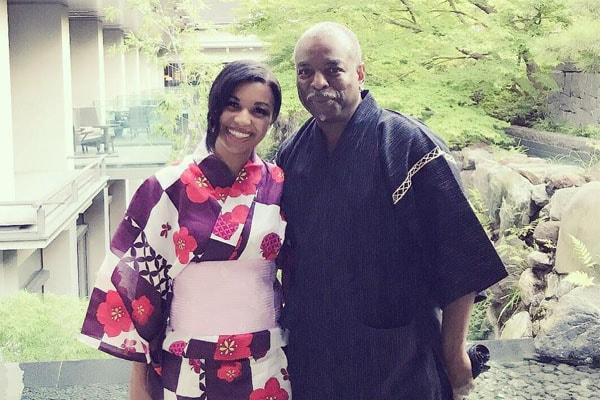 Michaela Burton with her father, LeVar Burton.