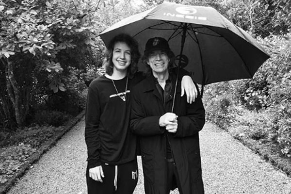 Mick Jagger and his son Lucas Maurice Morad Jagger