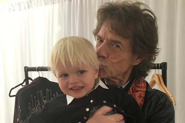 Mick Jagger withhis grandson Ray Emmanuel Fillary