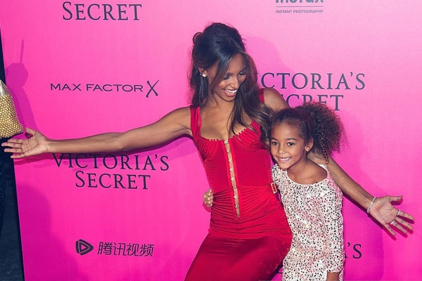 Jasmine Tookes with her daughter