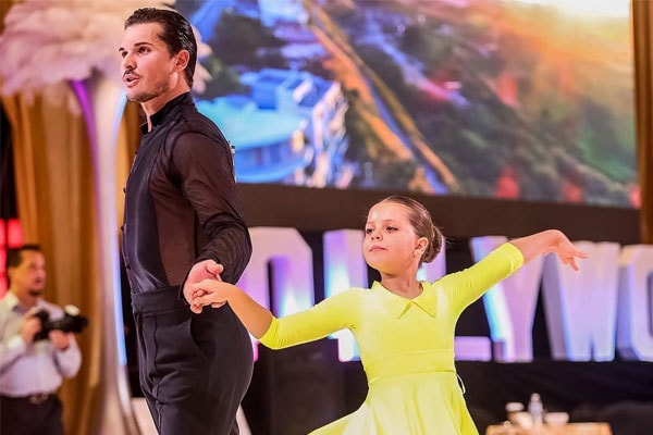 Olivia with her father, Gleb Savchenko