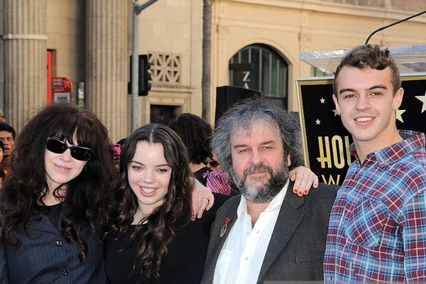 Family of Peter Jackson including son Billy Jackson