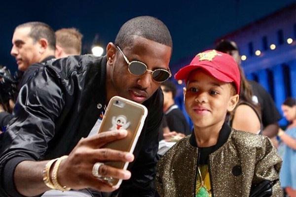 Rapper Fabolous with his son Johan Jackson