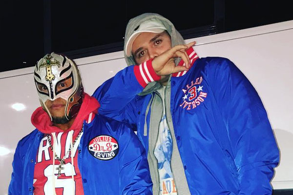 Rey Mysterio with his son Dominic