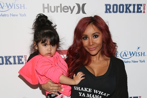 Snooki alongside her daughter Giovanna Marie LaValle