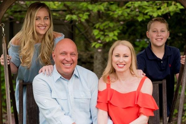 Steve Wilkos with kids Ruby Wilkos and Jack Wilkos and wife Rachelle Wilkos