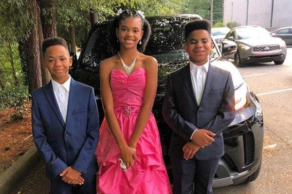 The-Dream's daughter Navy Talia Nash with her brothers