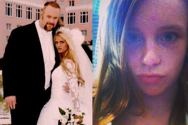 The Undertaker with his ex-wife Sara and daughter Chasey Calaway