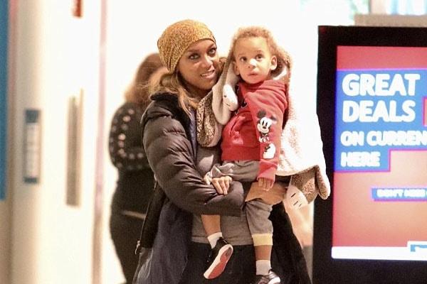 Tyra Bank and her son York Banks Asla