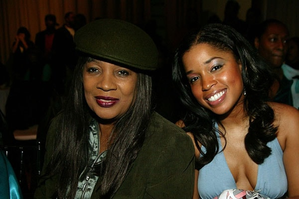 Tyson Beckford's mother Hillary Dixon Hall at an event