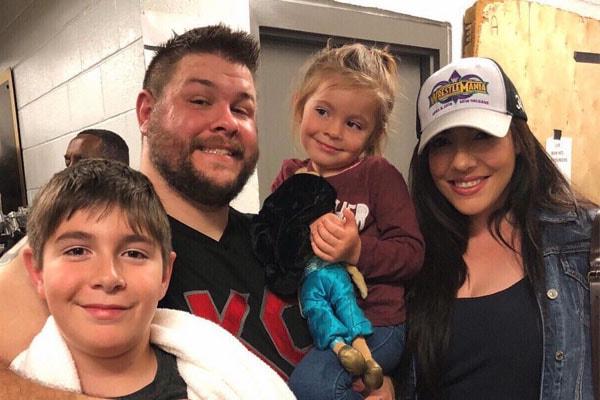 Wrestler Kevin Owen's children with wife Karina Elias