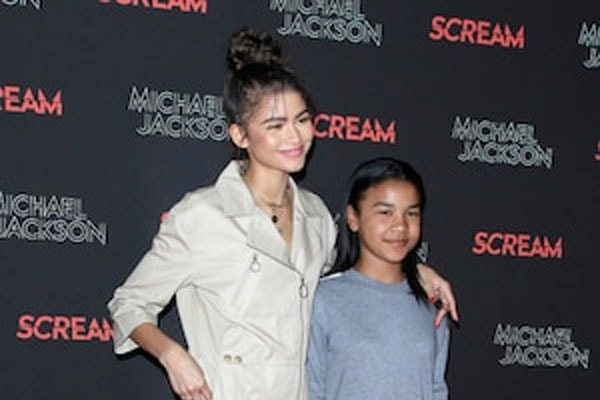 Zendaya with sister, Kaylee Stoermer