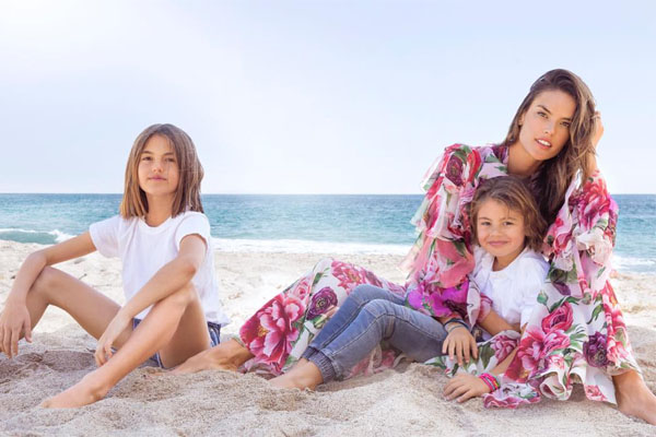 Alessandra Ambrosio's children- Noah and Anja