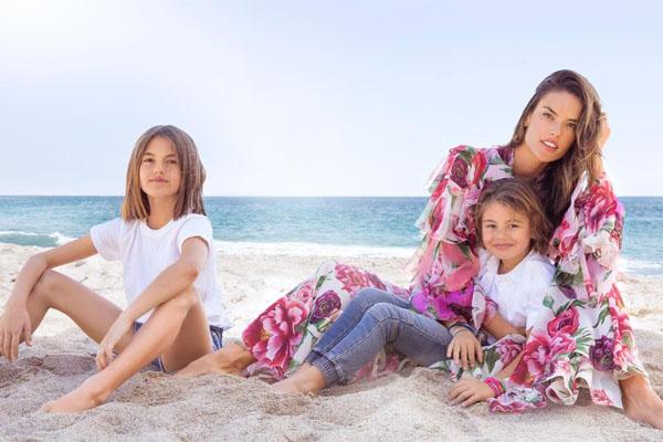 Alessandra Ambrosio's children- Noah and Anja