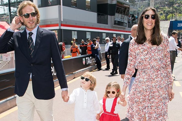 Andrea Casiraghi's family, Alexandre and India