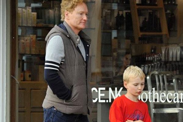 Beckett O'Brien with father, Conan O'Brien