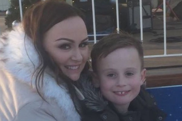 Chanelle Hayes with son Blakely Hayes-Bates