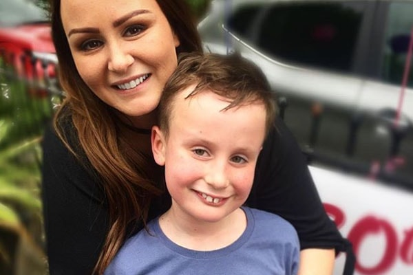 Chanelle Hayes with her son Blakely Hayes-Bates