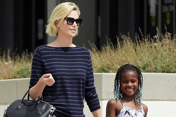 Charlize Theron with her son Jackson