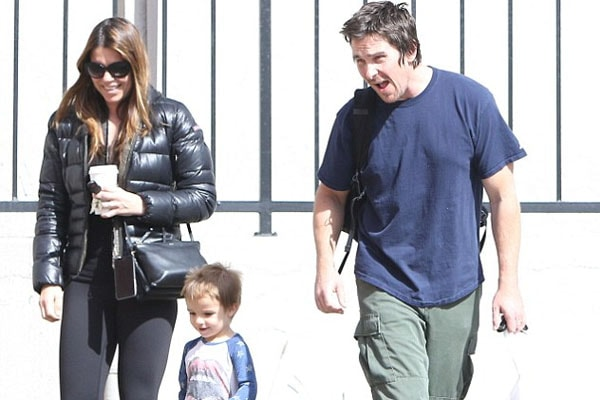 Christian Bale with son Joseph Bale and wife Sibi Blazic