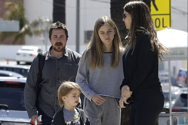 Christian Bale with Family