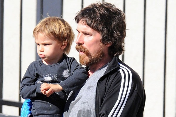 Christian Bale with son Joseph Bale