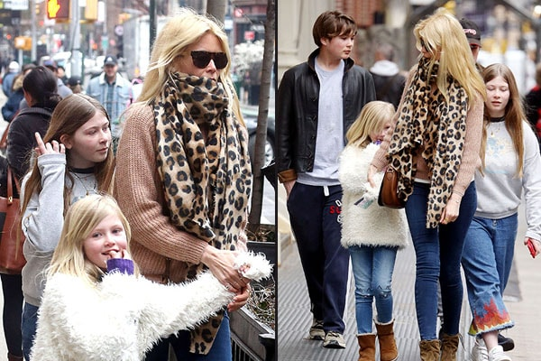 Claudia Schiffer and her children