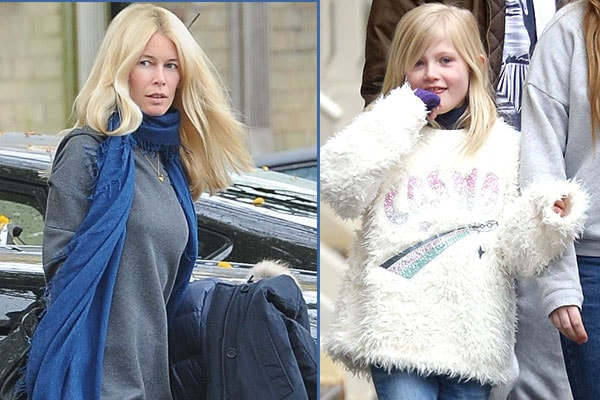 Cklaudia Schiffer and her daughter Cosima Violet