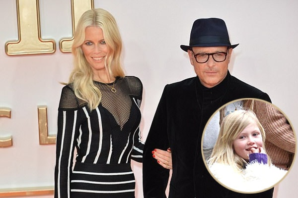 Claudia Schiffer's daughter Cosima Violet and husband Matthew Vaughn