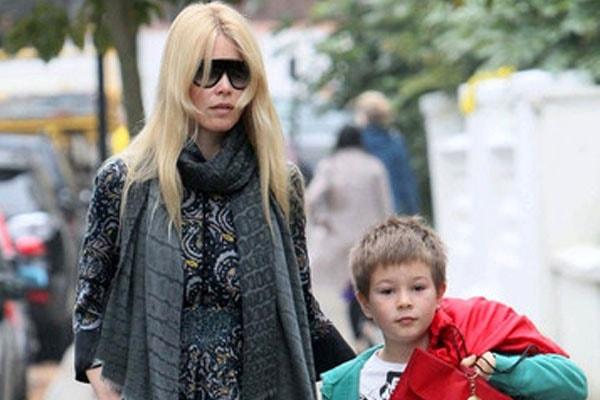 Claudia and son, Caspar Matthew De Vere Drummond