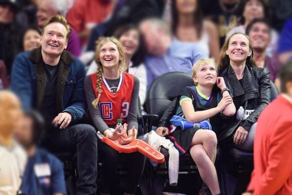 Conan O'Brien with son, Beckett with family