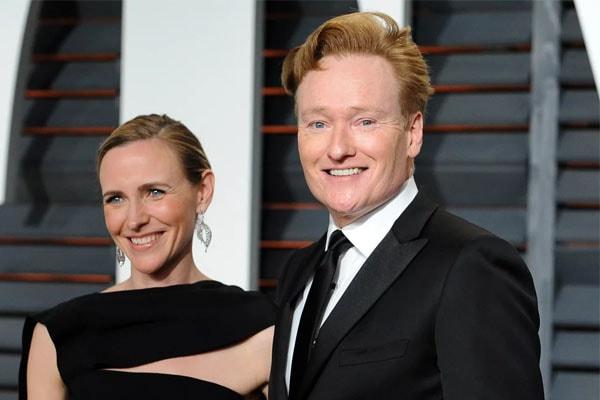 Conan O'Brien with wife Liza Powel O'Brien