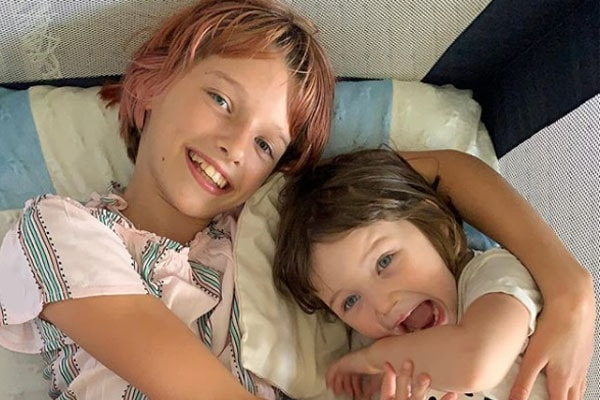 Milla Jovovich's daughters Dashiel Edan Anderson and Ever Gabo Anderson