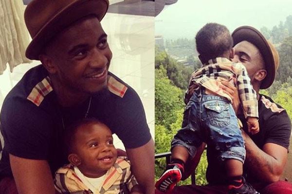 Stevie J's son Dorian Jordan and grandson Zion Jordan