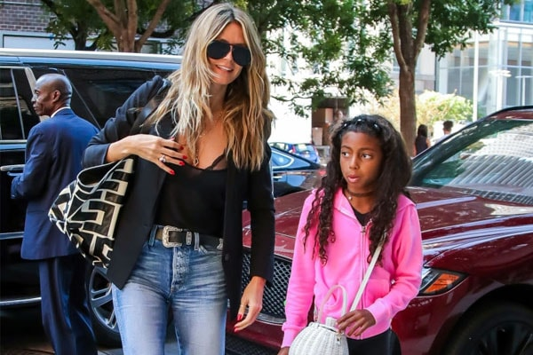 Heidi Klum with daughter Lou Sulola Samuel